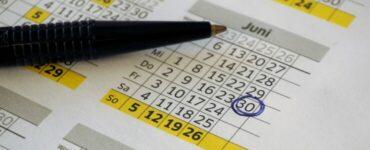 Marcando en el calendario un permiso no retribuido