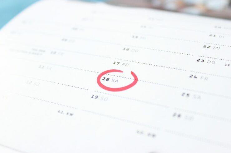 Día de asuntos propios señalado en el calendario